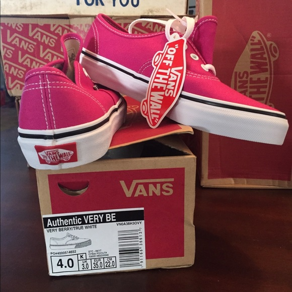 pink vans shoes size 4